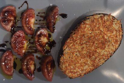 Receta de berenjenas rellenas de atún y queso al horno