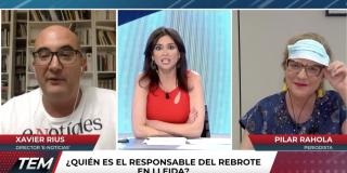 """El Quilombo / Repaso antológico de Xavier Rius a Rahola: """"Si Torra lo hubiera hecho bien, tú no hubieras pedido hablar del rey"""""""