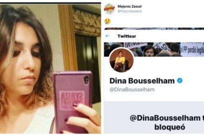 Dina Bousselham no tiene el día 'SIMpático': la exasesora de Iglesias bloquea a la satírica cuenta de Twitter 'Mejores Zasca'