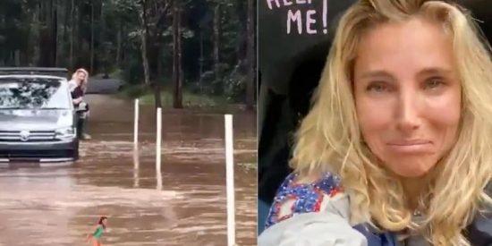 Tremendo susto: Elsa Pataky queda atrapada con su coche en medio de una riada y sale por la ventanilla