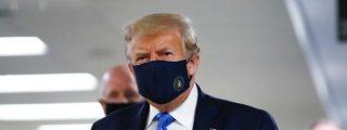 Donald Trump aparece con mascarilla en público por primera vez desde que que empezó la pandemia de coronavirus