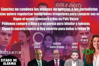 TERTULIA / La oscura estrategia de Iglesias para ganar votos y Rocío de Meer comenta el último acoso a VOX