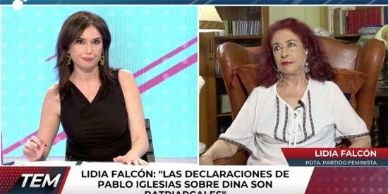 """Lidia Falcón (Partido Feminista): """"Pablo Iglesias le ha montado a Irene Montero un ministerio sin haber estudiado"""""""