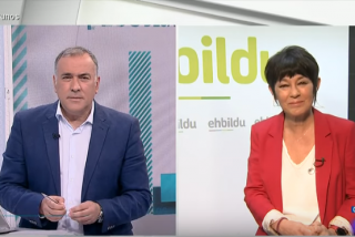 Xabier Fortes enmudece cuando la candidata bilduetarra acusa a VOX de hacer un show con la pedrada a De Meer