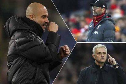 Klopp y Mourinho durísimos contra el City por la decisión del TAS, pero Guardiola dirige su furia hacia Tebas