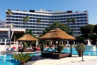 Un empresario español muere aplastado por un británico que se lanzó desde la séptima planta del Hotel Melia Don Pepe
