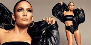 Jennifer Lopez deslumbra en cueros vivos embutida en un elegante y sensual conjunto negro