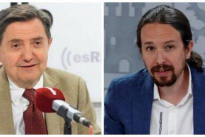 """Losantos, sobre el ataque de Iglesias a la prensa: """"Es, junto con Sánchez, un siniestro bosquejo de tirano"""""""