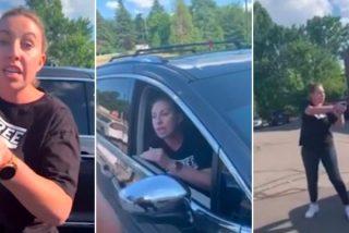 El dramático minuto durante el que la mujer blanca apunta con su pistola a la madre negra y su hija en el aparcamiento