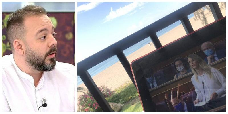 Twitter ahoga a Antonio Maestre por presumir de estar trabajando con vistas al mar