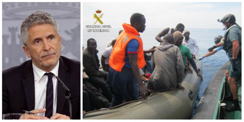 La cifra que provoca el pánico en la Guardia Civil ante la dejadez de Marlaska: Más de 9.000 inmigrantes han alcanzado las costas en plena pandemia