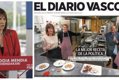 Idoia Mendía (PSOE) asegura que jamás pactará con EH Bildu en el País Vasco y el chorreo que sufre es glorioso