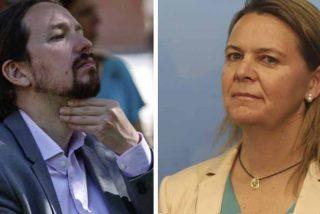 María Salom (PP) deja tieso a Pablo Iglesias en el Senado con una pregunta sobre el 'caso Dina'