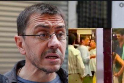 Vídeo: los clientes de un bar echan a Monedero y el de Podemos 'llora' e insulta a VOX
