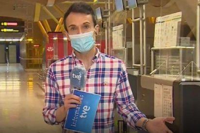 La insólita imitación de Papuchi de un reportero de TVE en pleno directo
