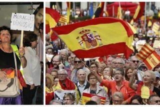 """Condenada la activista que agredió al grito de """"asesina, puta fascista"""" a una mujer por llevar la bandera española"""
