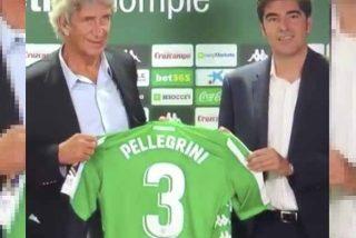 """El momento más surrealista de la presentación de Pellegrini con el Betis: """"Qué triste, vergüenza ajena, lo deja tirado"""""""
