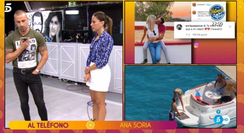 """La novia de Enrique Ponce, Ana Soria, llama a 'Sálvame' tras ser acusada de """"sucia"""" y """"guarra"""""""
