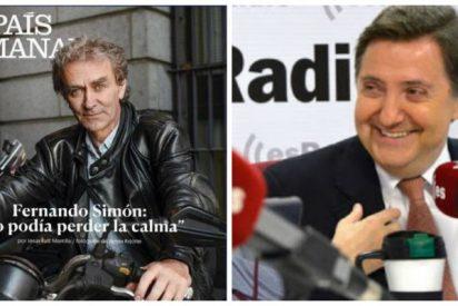 """Losantos se troncha de la portada de Fernando Simón en El País: """"Es el doctor muertecicleta"""""""