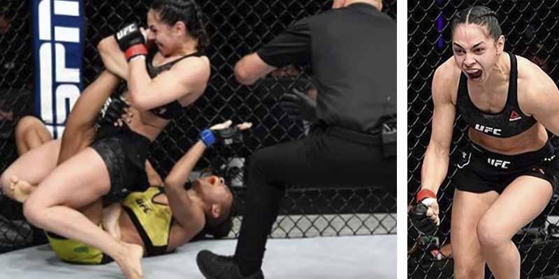 KO fulminante en la UFC: La 'Reina de la Violencia' casi destroza la pierna de su rival