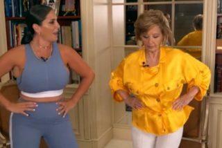 María Teresa Campos se viene arriba y termina una entrevista 'perreando' con Anabel Pantoja