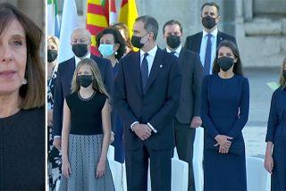 Gritos y 'vivas' desde las afueras del Palacio Real siembran el desasosiego en el 'homenaje' a las víctimas