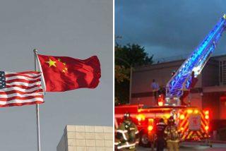 Los diplomáticos chinos del consulado en Houston queman a toda prisa documentos ante el inminente cierre