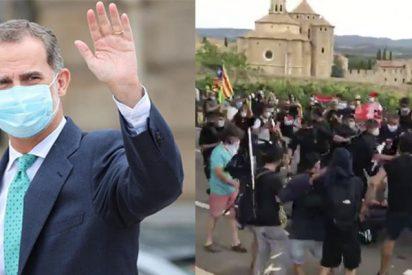 La sandez de los CDR no se les cura ni con una pandemia: tremendo enfrentamiento con la Policía para boicotear a los Reyes