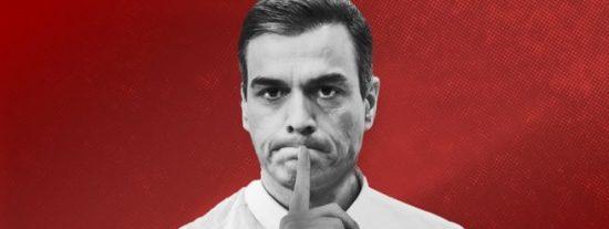 'Mordazas Moncloa': Sánchez sigue callado como una puerta sin condenar los ataques de sus socios chavistas a los medios