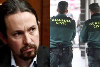 Un premonitorio tuit de la Guardia Civil incendia la red al señalar a Pablo Iglesias como 'delincuente'