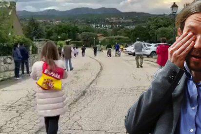 Pablo Iglesias se cree el rey de todo; pero así se lanzan al contragolpe las enjuiciadas por llevar banderas a su casoplón