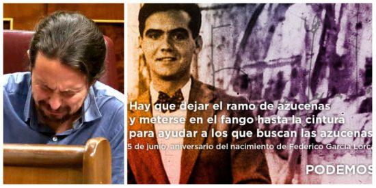 El abuelo 'rojo' de Pablo Iglesias escribió un libro exonerando a Franco de toda culpa en el asesinato de Lorca
