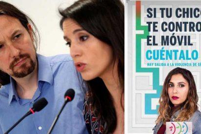"""Lo que hizo Iglesias con la tarjeta de Dina Bousselham es """"violencia de género"""" para la Policía, Guardia Civil y hasta para Irene Montero"""