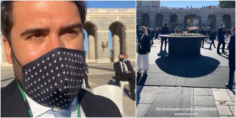 Al cómico influencer Jorge Cremades le meten la del pulpo por ir de turismo al Homenaje de Estado
