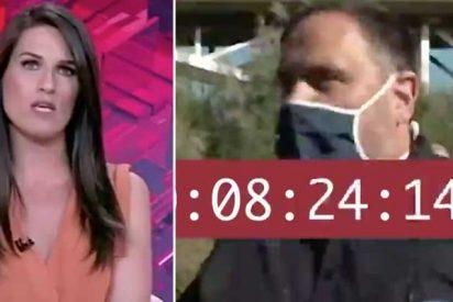 TVE toca fondo: más de 9 minutos de propaganda en directo con el golpista Junqueras llegando a su pueblo