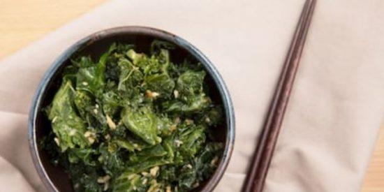 Kale salteado al limón