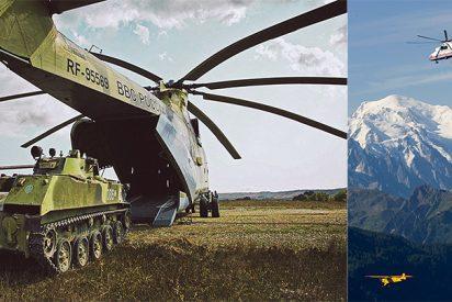 Así es el helicóptero más grande del mundo: mide igual que un Boeing 737 y una vez cargó un mamut congelado