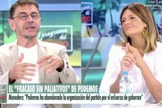 Monedero intenta colar un bulo sobre el PP en Telecinco, lo pillan 'in fraganti' y hace un patético ridículo
