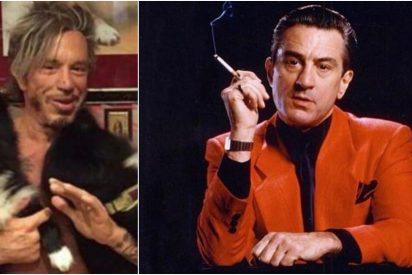 """""""Tonto del culo"""" y """"maldito llorón"""": Mickey Rourke amenaza sin piedad a Robert De Niro en Instagram"""