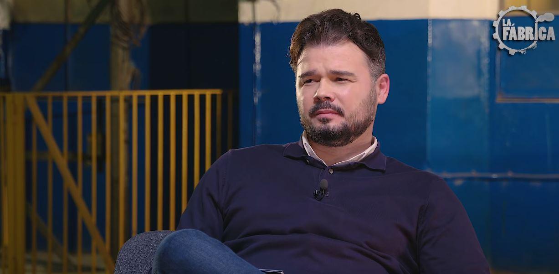 """Rufián 'reaparece' contando en su televisión algo tan grave del Rey Felipe que podría """"terminar en prisión"""""""