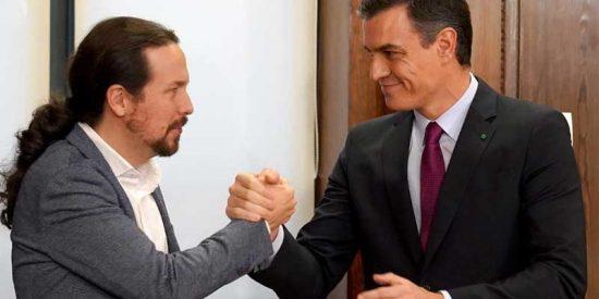 """Sánchez, encantado con 'sus' comunistas: """"Podemos son hijos y nietos de Anguita y Carrillo pero VOX lo son de Blas Piñar y Franco"""""""