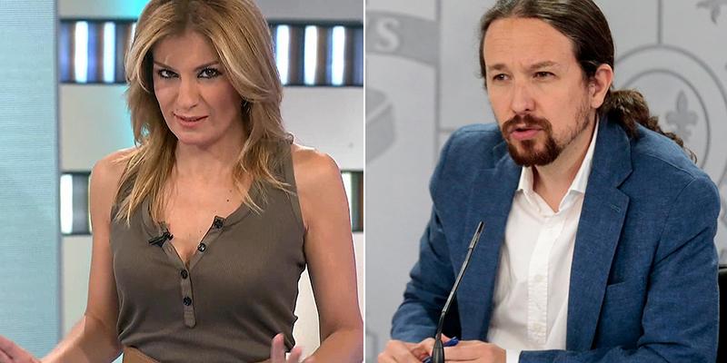 """Sandra Golpe sale en defensa de su compañero Vicente Vallés: """"Iglesias no se da cuenta de que ya no es un tertuliano"""""""