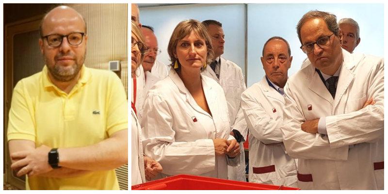 """Sostres 'desenmascarilla' a Torra: """"Esto era la independencia, los contagios descontrolados"""""""