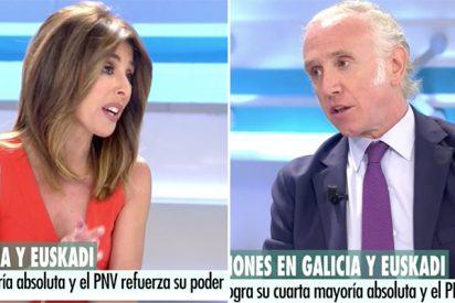 Ana Terradillos monta un escándalo a Eduardo Inda por llamar «presunto delincuente» a Pablo Iglesias