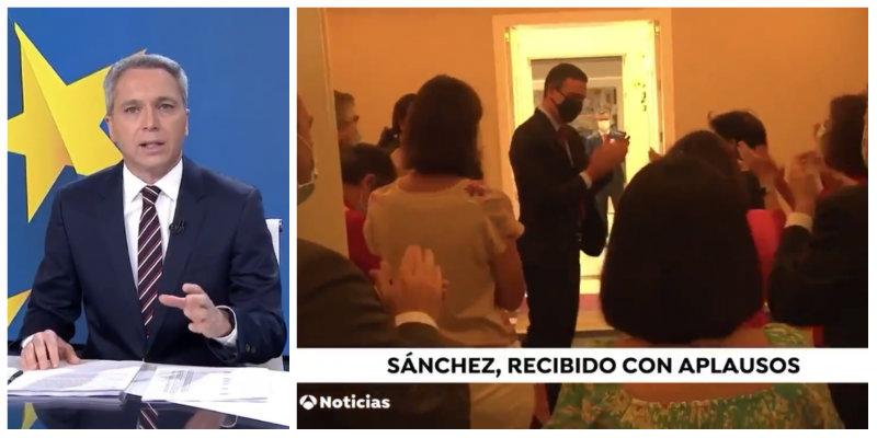 Vicente Vallés vuelve a arruinar la propaganda de Sánchez con una frase demoledora