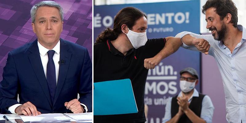 """El silencioso nuevo palo de Vicente Vallés a Podemos: """"Las cifras son suficientemente explícitas"""""""