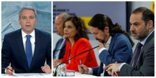 Vicente Vallés deja en evidencia a los tres ministros del PSOE por consentir el señalamiento de Iglesias a varios periodistas