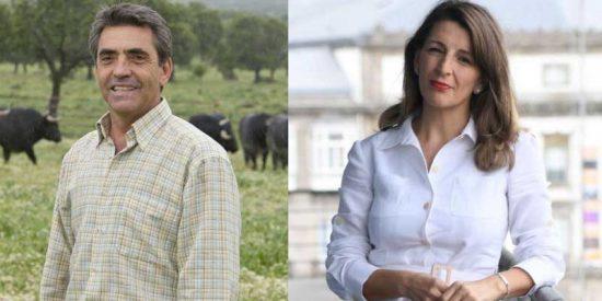 """Victorino Martín retrata a Yolanda Díaz y a Podemos: """"En el pasado su grupo promovió el escrache, siendo la tauromaquia uno de sus objetivos"""""""