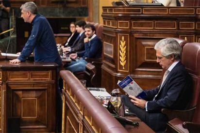 Suárez Illana desprecia otra vez al 'bilduetarra' Oskar Matute y se pone a leer un libro sobre la violencia de ETA mientras él hablaba