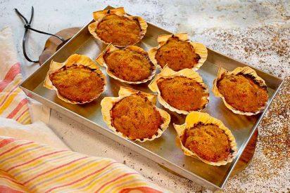 Vieiras a la gallega: rellenas y gratinadas en el horno